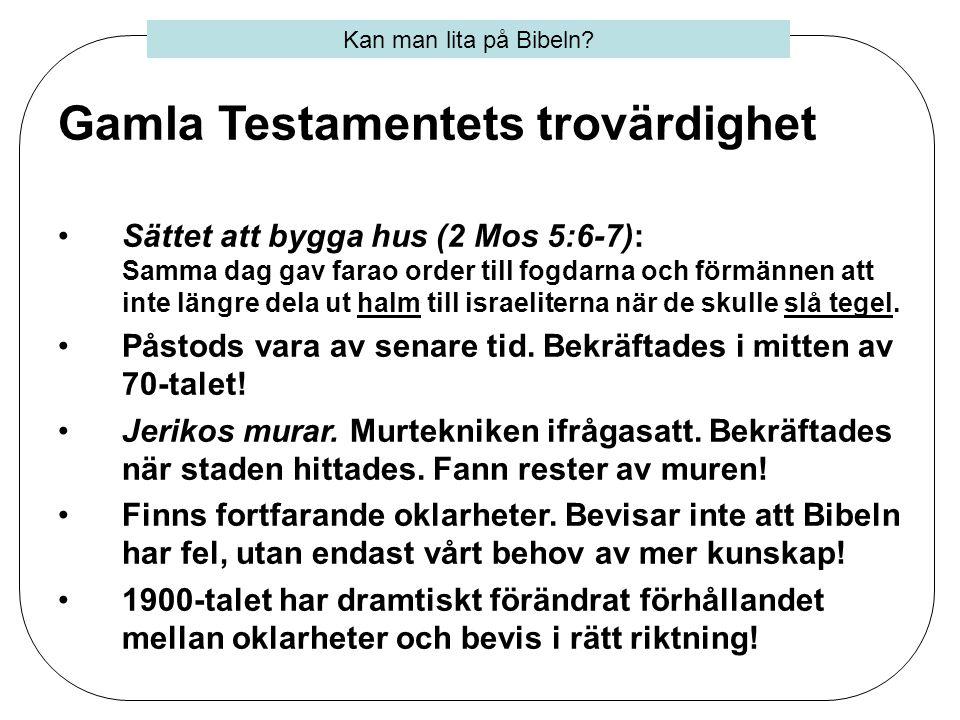 Gamla Testamentets trovärdighet