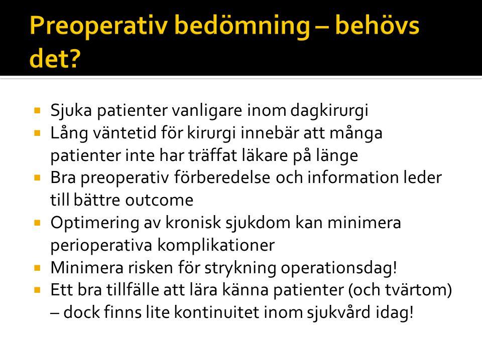 Preoperativ bedömning – behövs det