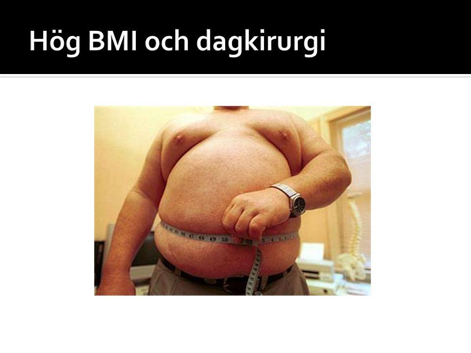 Hög BMI och dagkirurgi