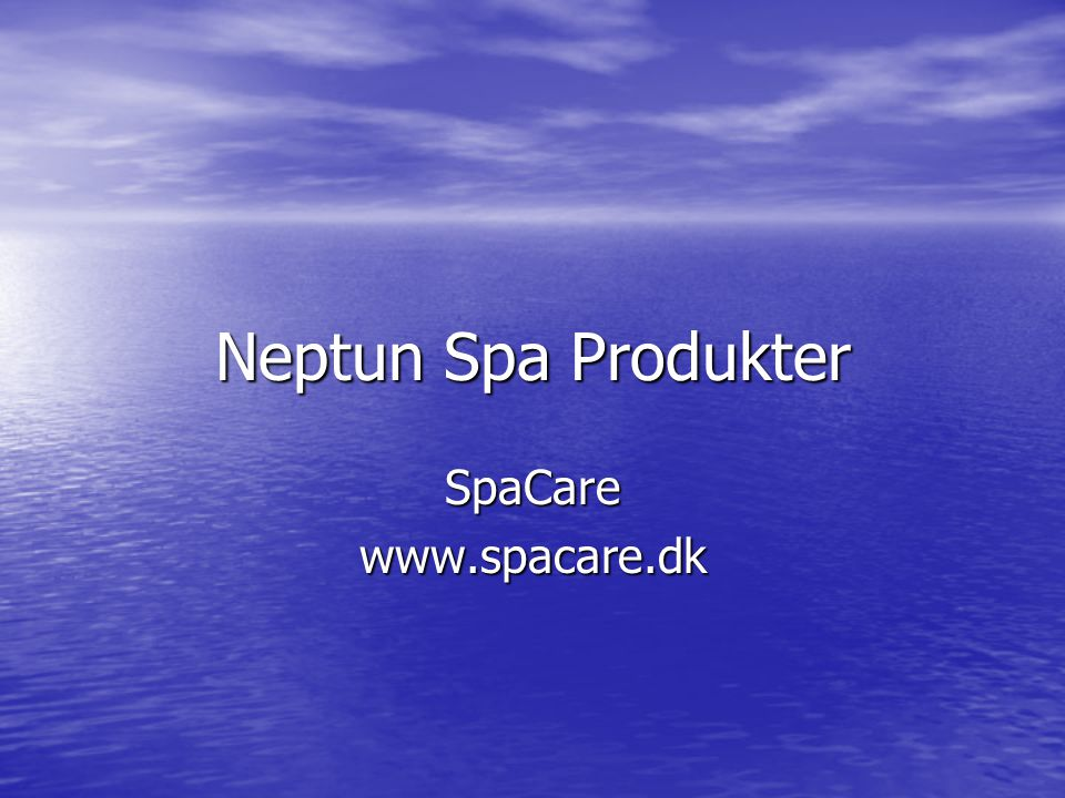 Neptun Spa Produkter SpaCare