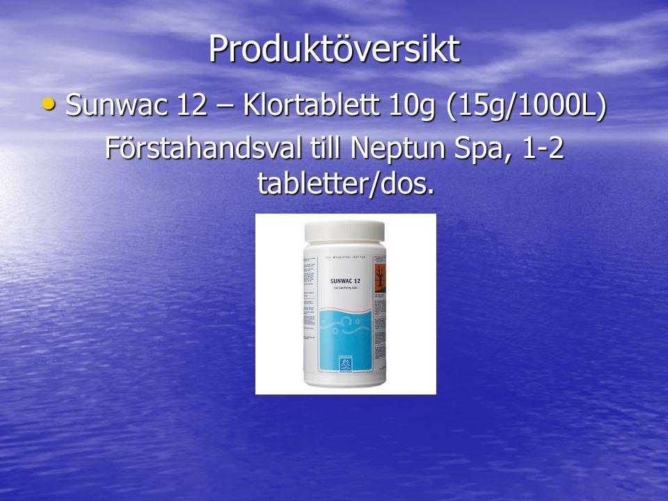 Förstahandsval till Neptun Spa, 1-2 tabletter/dos.