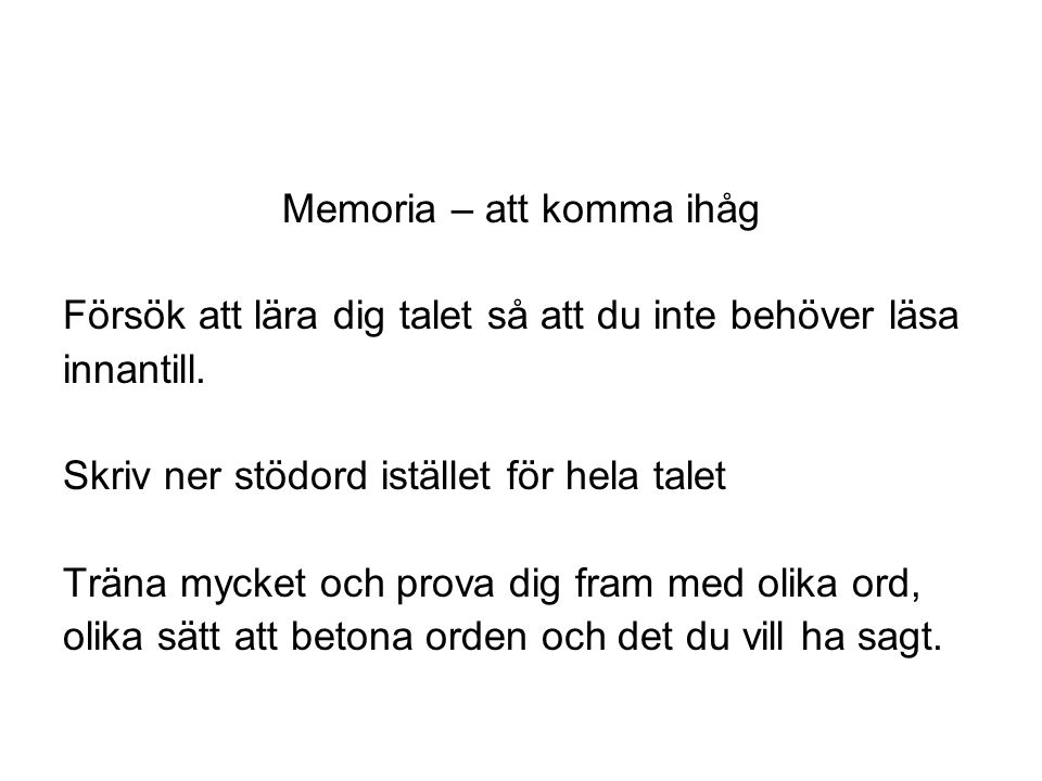 Memoria – att komma ihåg