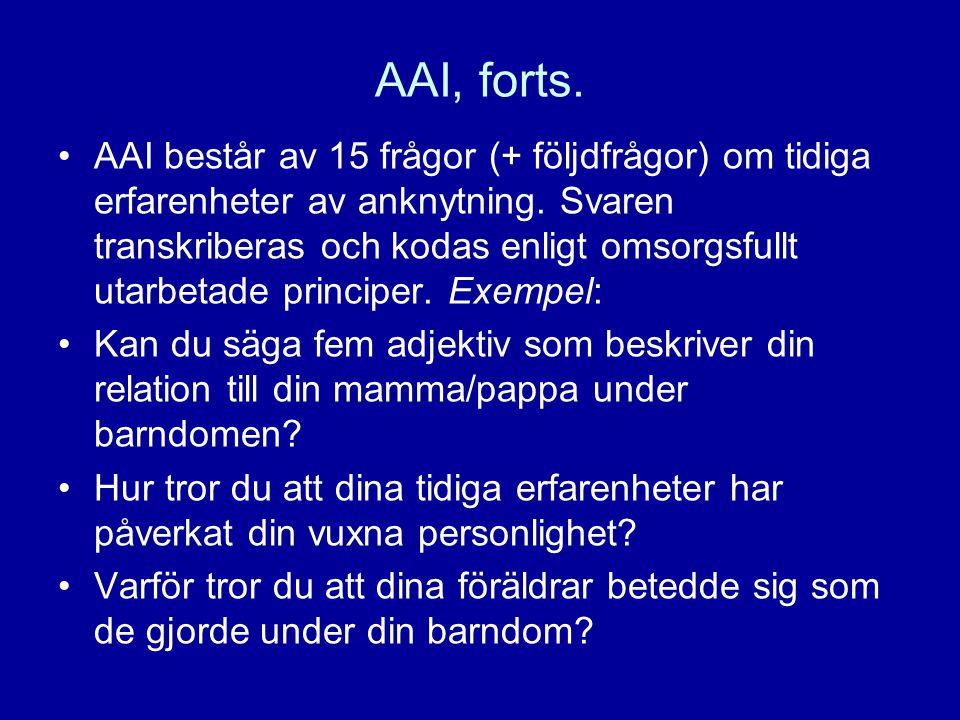 AAI, forts.