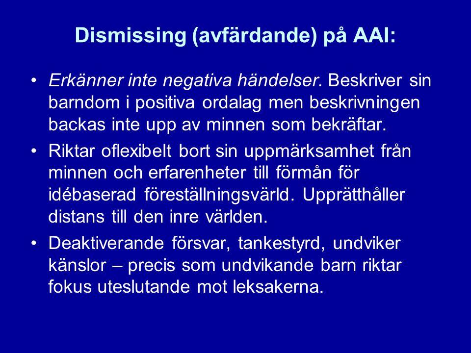 Dismissing (avfärdande) på AAI: