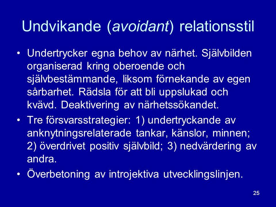 Undvikande (avoidant) relationsstil