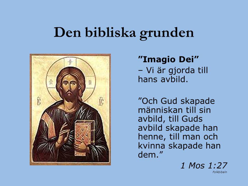 Den bibliska grunden Imagio Dei – Vi är gjorda till hans avbild.