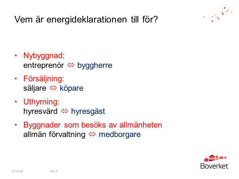 Vem är energideklarationen till för
