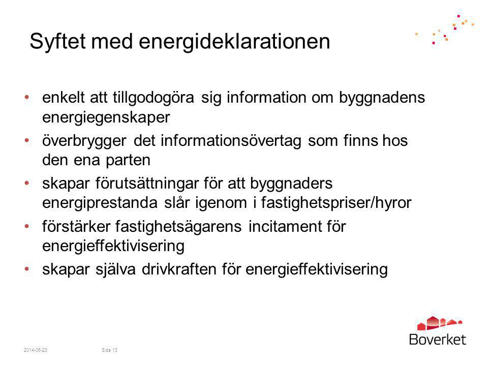 Syftet med energideklarationen