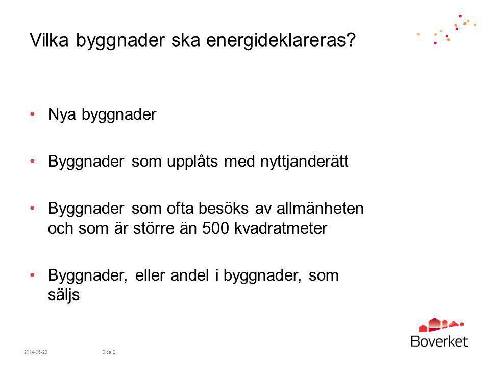 Vilka byggnader ska energideklareras