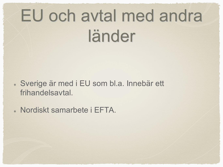 EU och avtal med andra länder