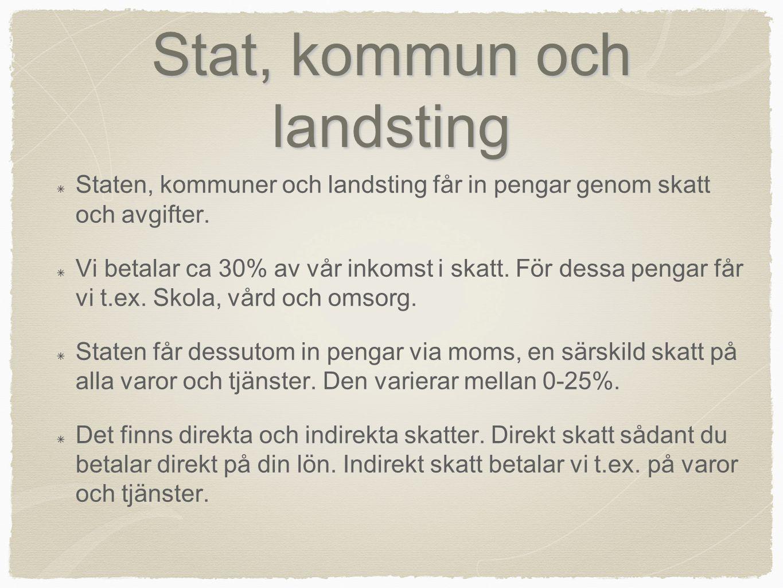 Stat, kommun och landsting