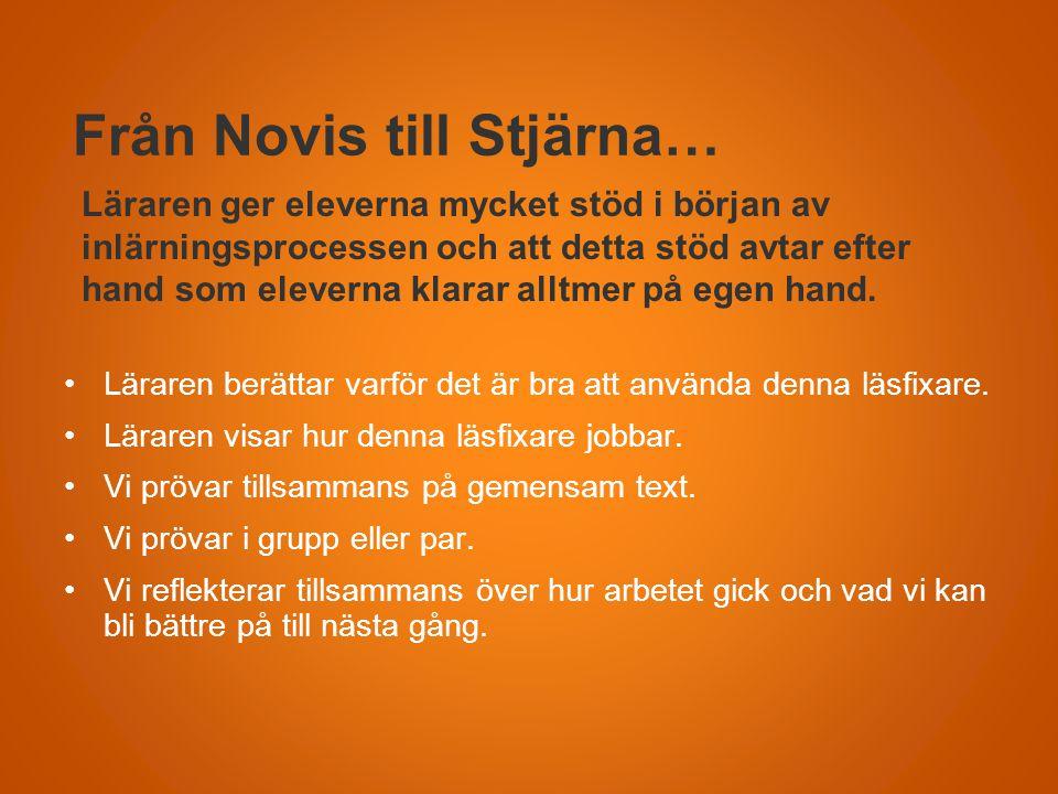 Från Novis till Stjärna…