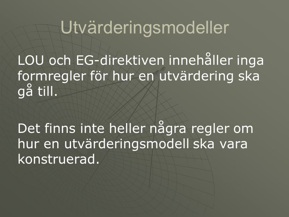 Utvärderingsmodeller