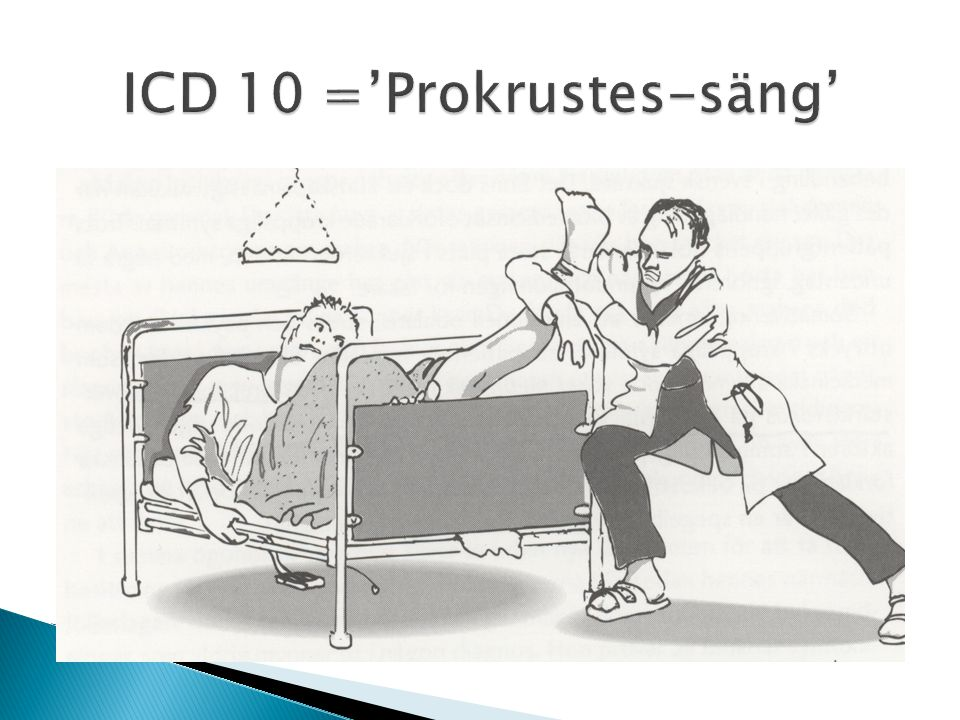 ICD 10 ='Prokrustes-säng'