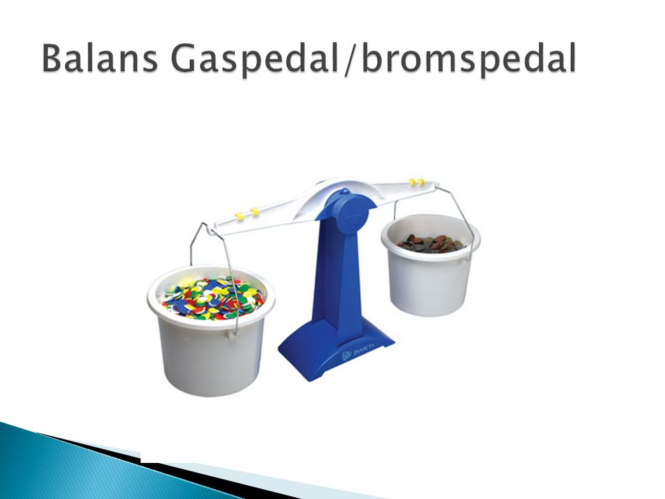 Balans Gaspedal/bromspedal