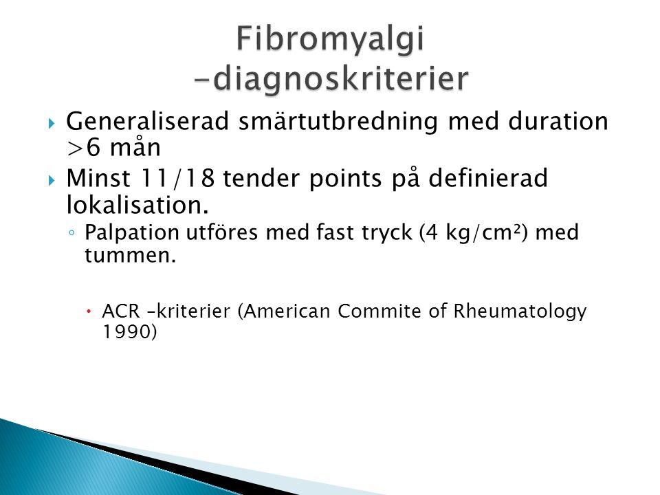 Fibromyalgi -diagnoskriterier