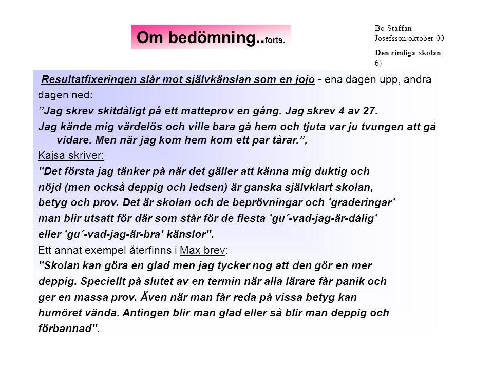 Bo-Staffan Josefsson/oktober 00