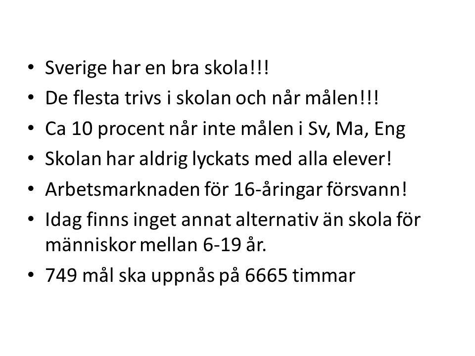 Sverige har en bra skola!!!
