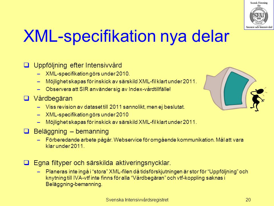 XML-specifikation nya delar