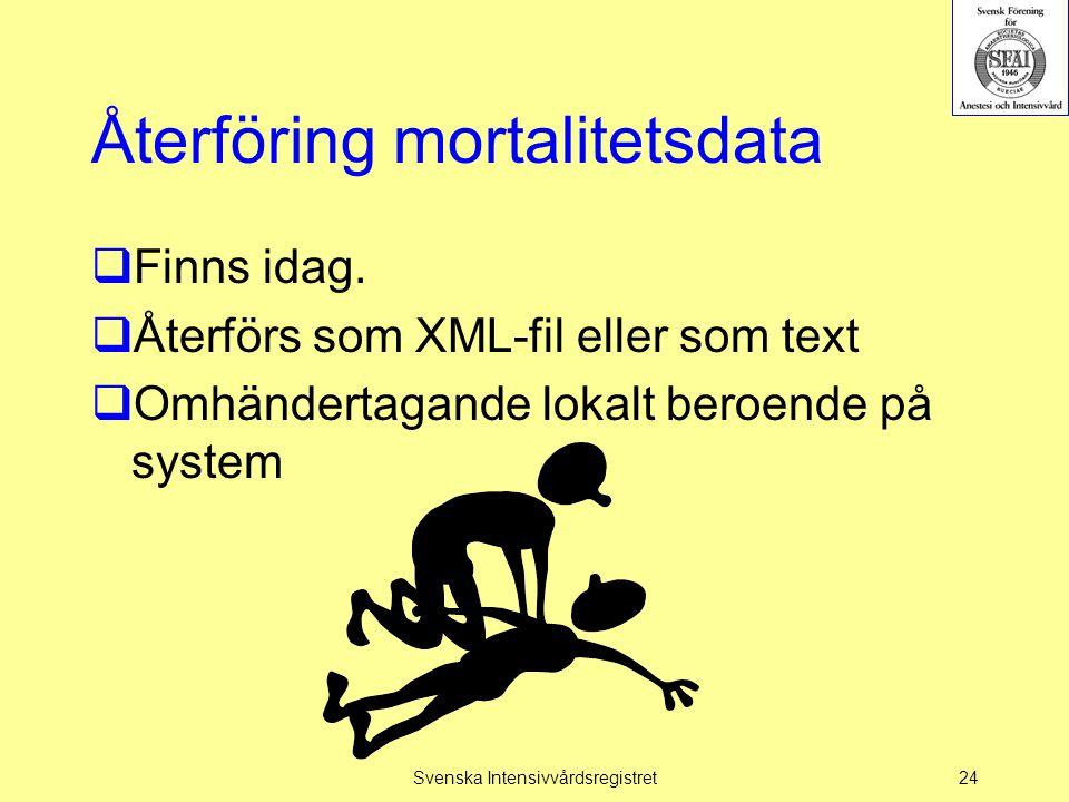 Återföring mortalitetsdata
