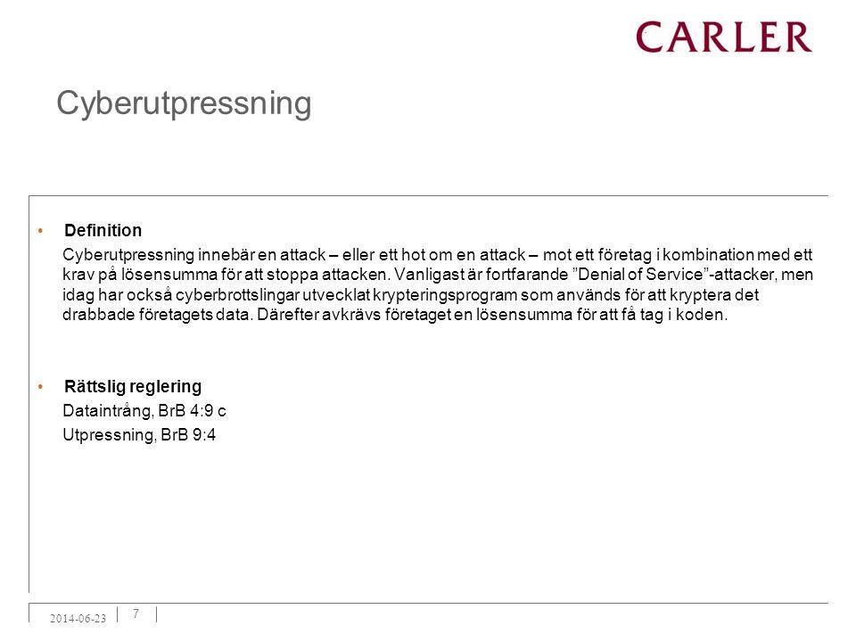 Cyberutpressning Definition