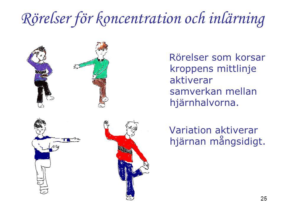 Rörelser för koncentration och inlärning