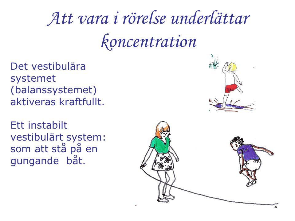 Att vara i rörelse underlättar koncentration