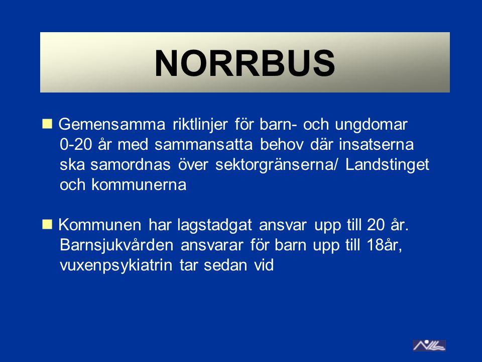 NORRBUS Gemensamma riktlinjer för barn- och ungdomar