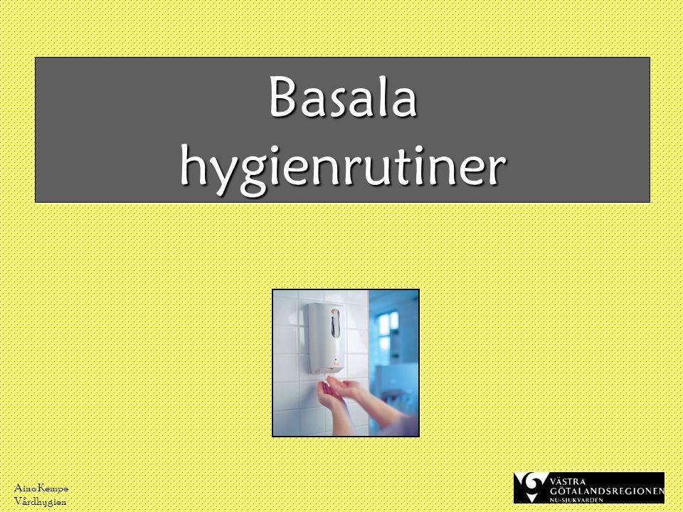 Basala hygienrutiner Aino Kempe Vårdhygien