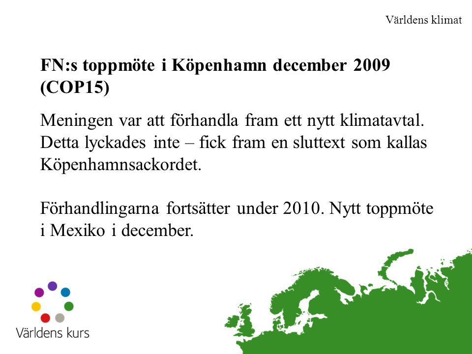 FN:s toppmöte i Köpenhamn december 2009 (COP15)