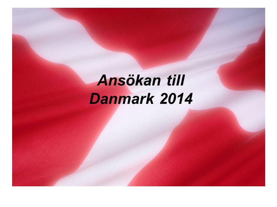Ansökan till Danmark 2014