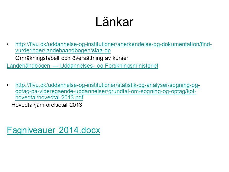 Länkar Fagniveauer 2014.docx