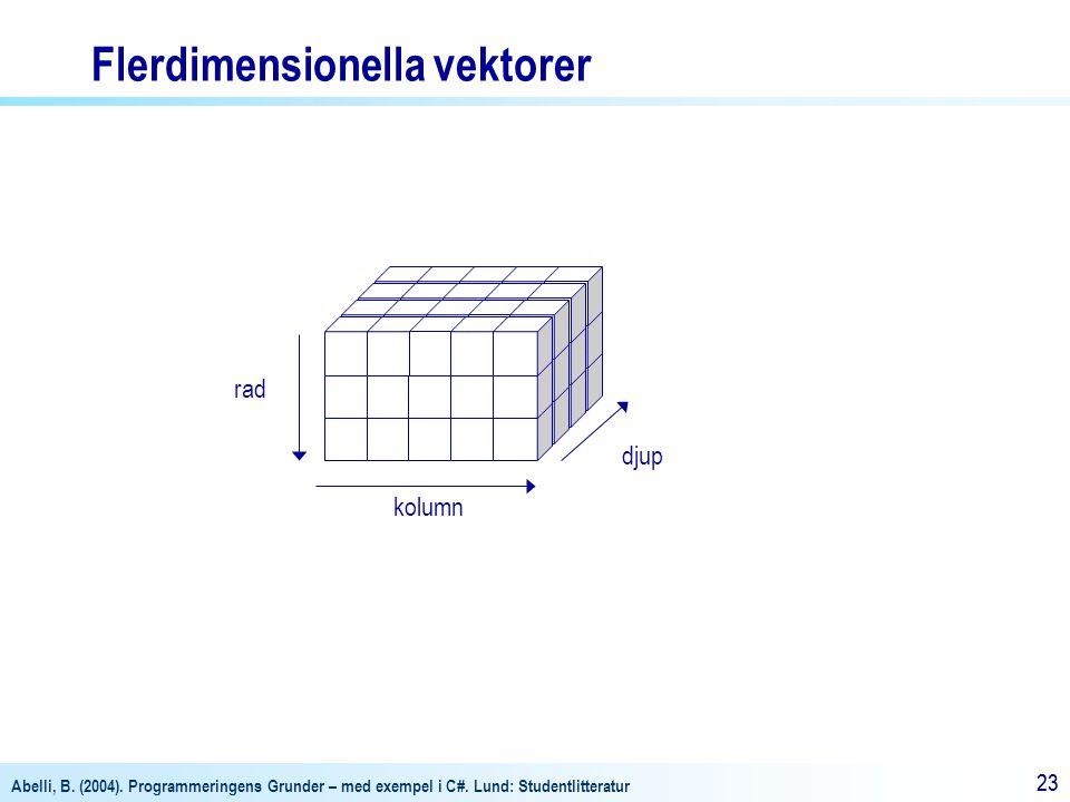 Flerdimensionella vektorer
