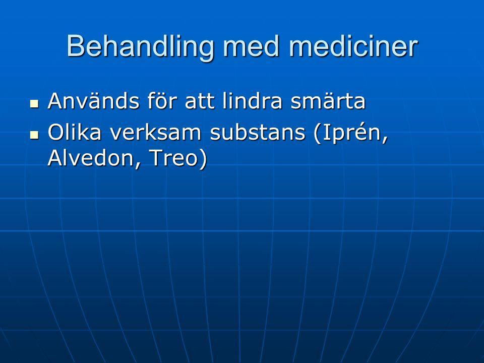 Behandling med mediciner