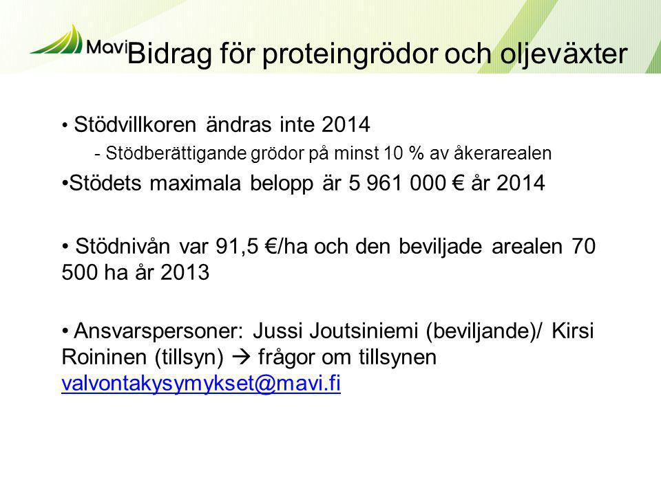 Bidrag för proteingrödor och oljeväxter
