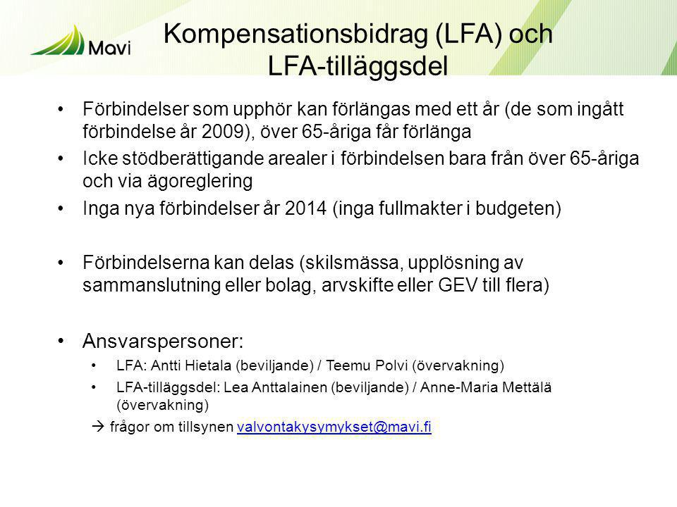 Kompensationsbidrag (LFA) och LFA-tilläggsdel