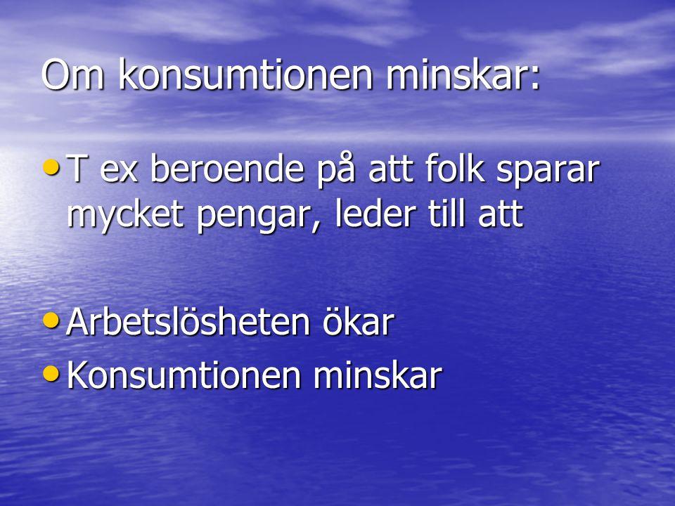 Om konsumtionen minskar: