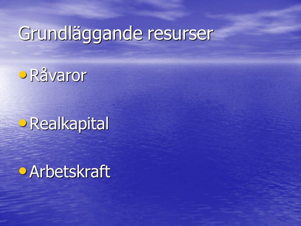 Grundläggande resurser