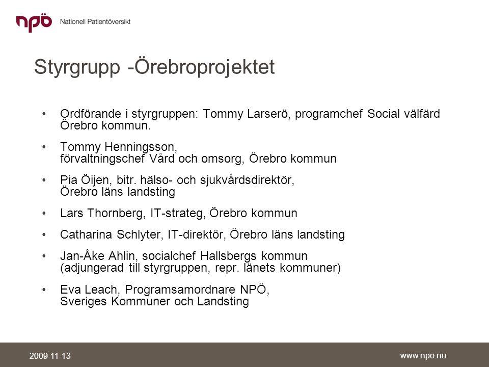 Styrgrupp -Örebroprojektet