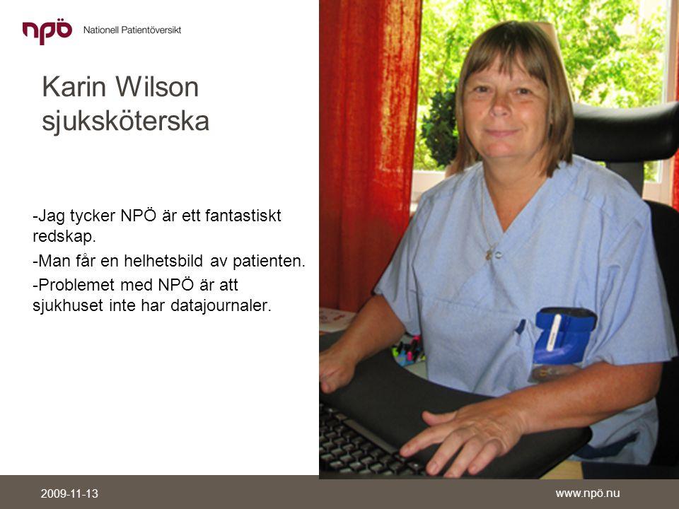 Karin Wilson sjuksköterska