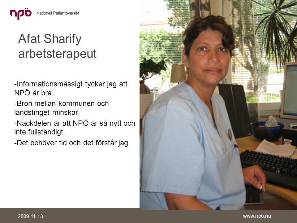 Afat Sharify arbetsterapeut