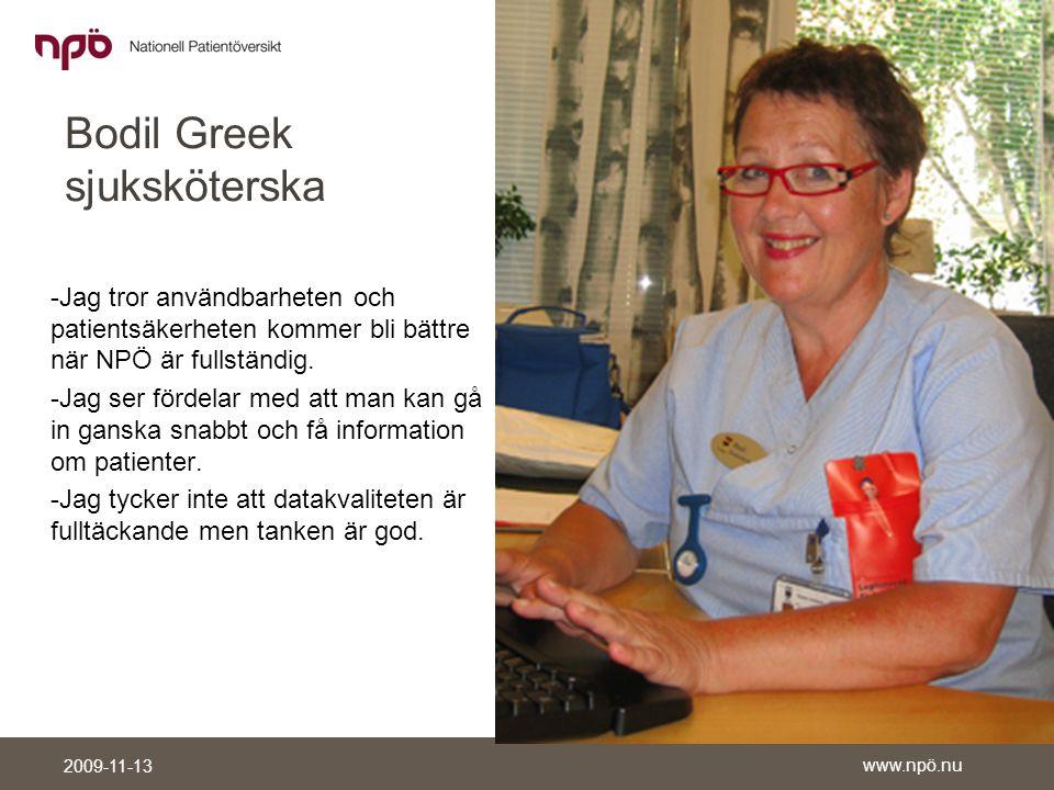 Bodil Greek sjuksköterska