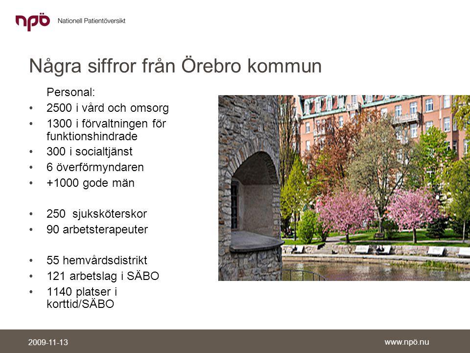 Några siffror från Örebro kommun