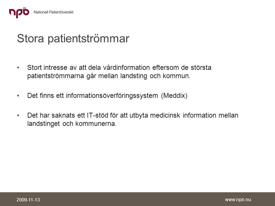 Stora patientströmmar