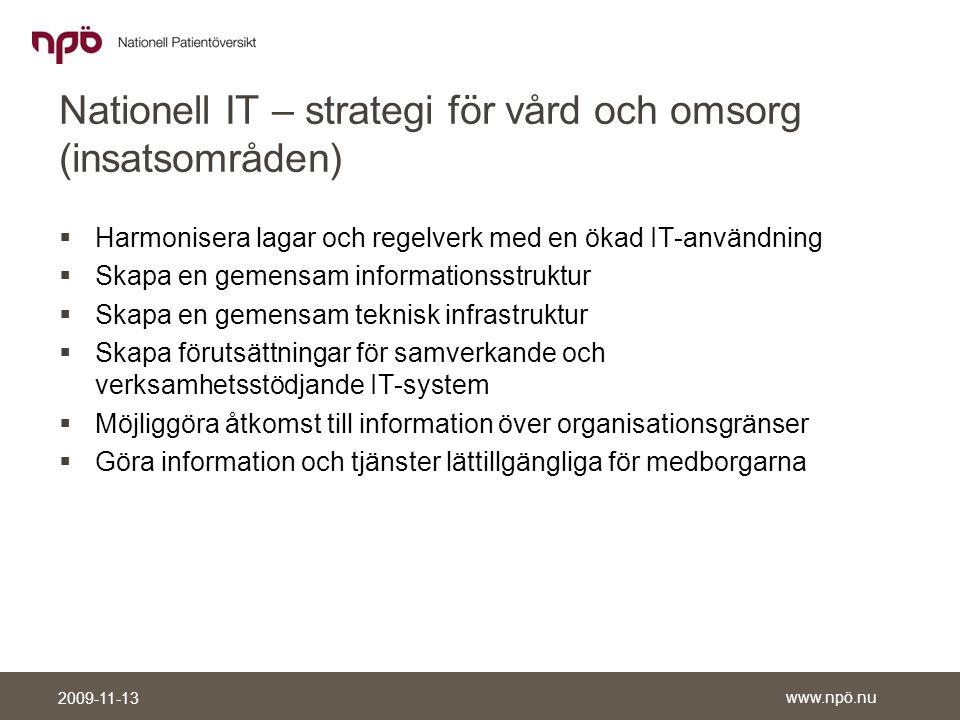 Nationell IT – strategi för vård och omsorg (insatsområden)