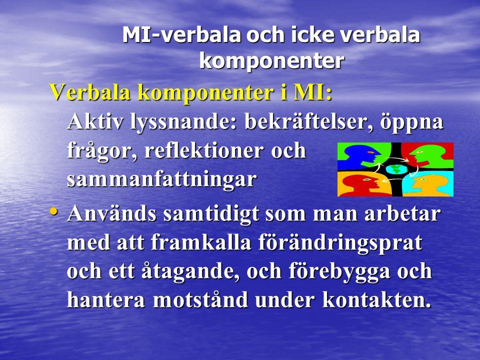 MI-verbala och icke verbala komponenter