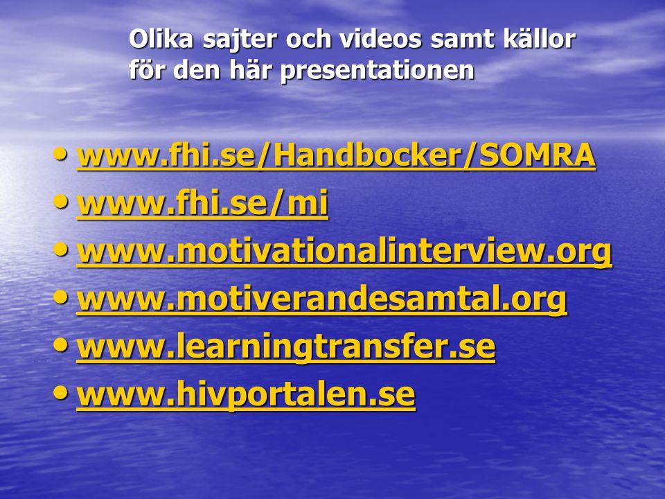Olika sajter och videos samt källor för den här presentationen