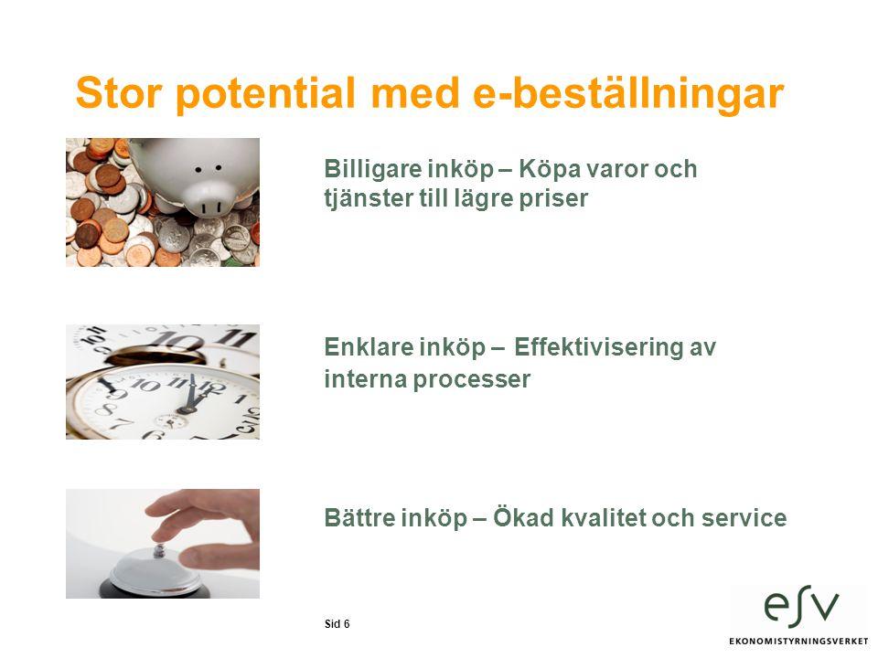 Stor potential med e-beställningar