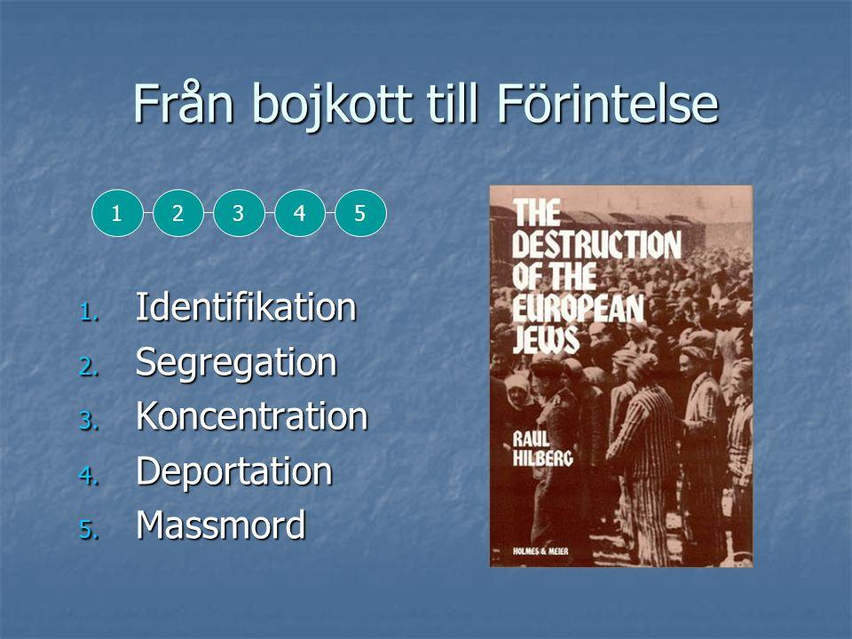 Från bojkott till Förintelse