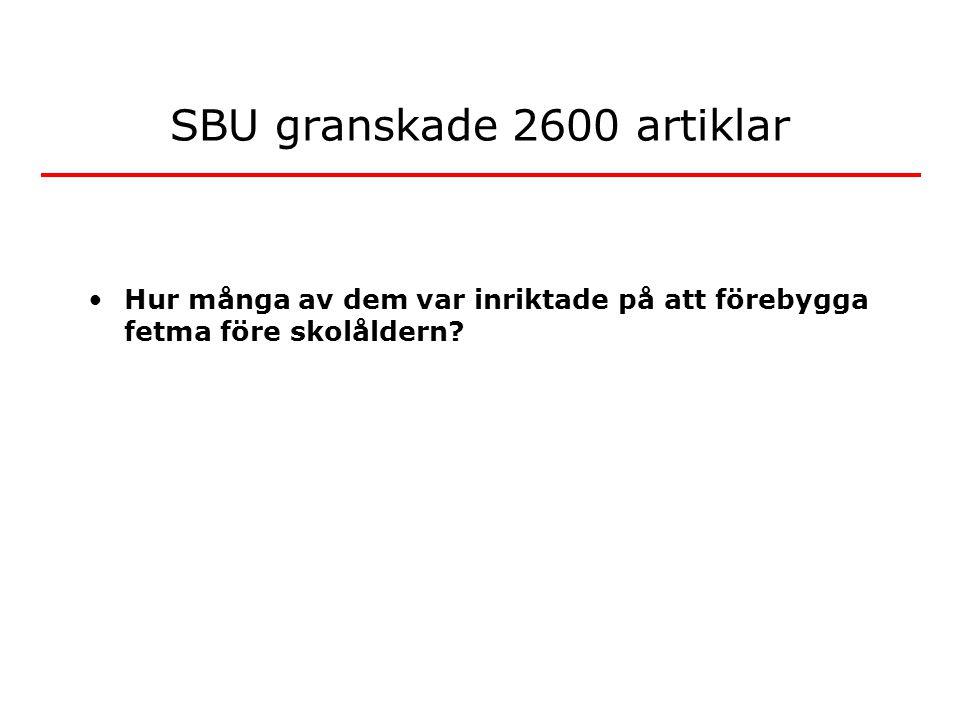 SBU granskade 2600 artiklar